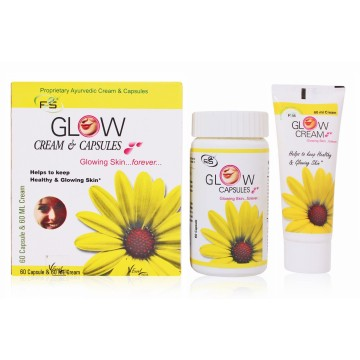 Glowing Face Cream & Capsules  - F2S Glow