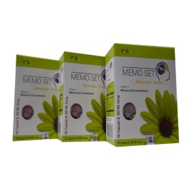 MEMO SET Memory Enhancer Capsules & Syrup Pack of 3