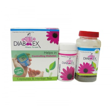 Anti Diabetic Herbal Medicine  - DIAB EX TEA + CAPSULES
