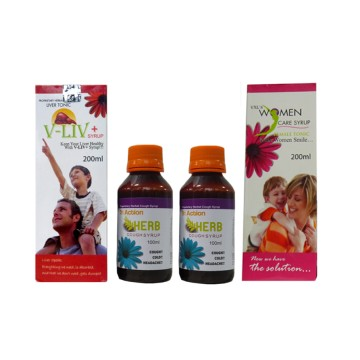 Vee Excel syrups for cough, immunity and Liver protection